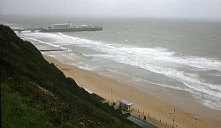 Bournemouth seafront, stormy