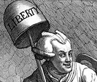 Detail from etching 'John Wilkes Esqr.' by William Hogarth, 1763
