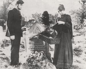 Gabriel and Bathsheba at Fanny's grave